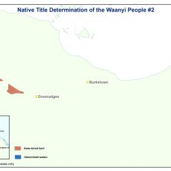 Map of Waanyi people's native title determination
