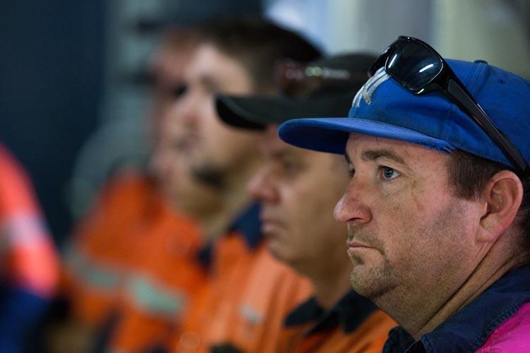 Workers listening